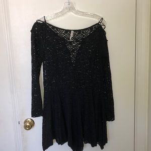 Free People black lace Intimately Dress